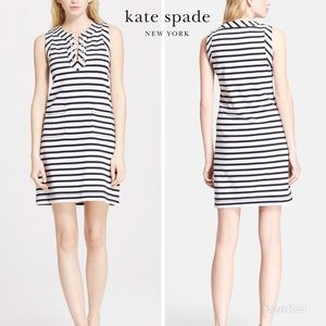 Kate Spade striped lace up dress with pockets